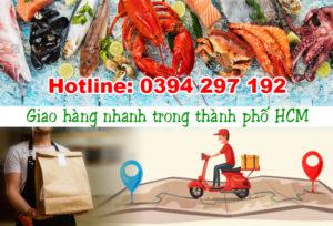 Giao hàng hải sản